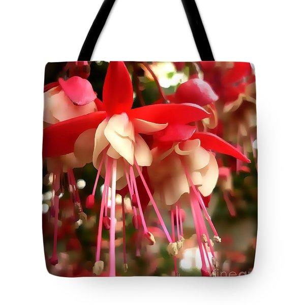 Red Fuschia Tote Bag by Jeff Breiman