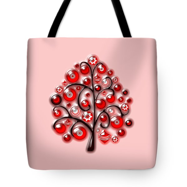 Red Glass Ornaments Tote Bag by Anastasiya Malakhova