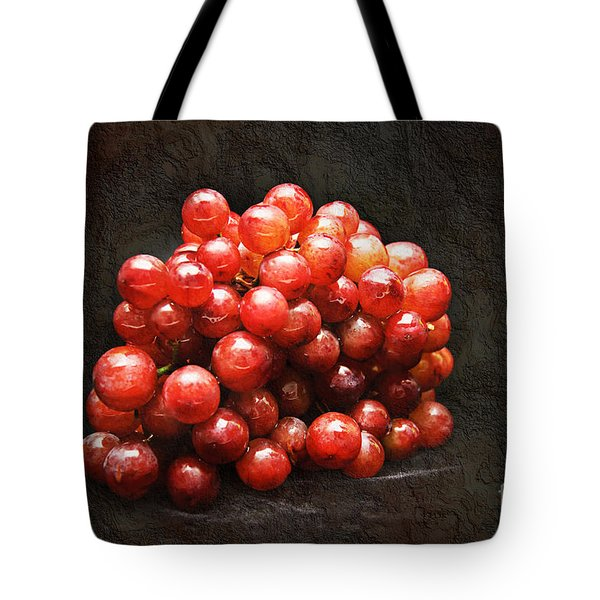 Red Grapes Tote Bag by Andee Design