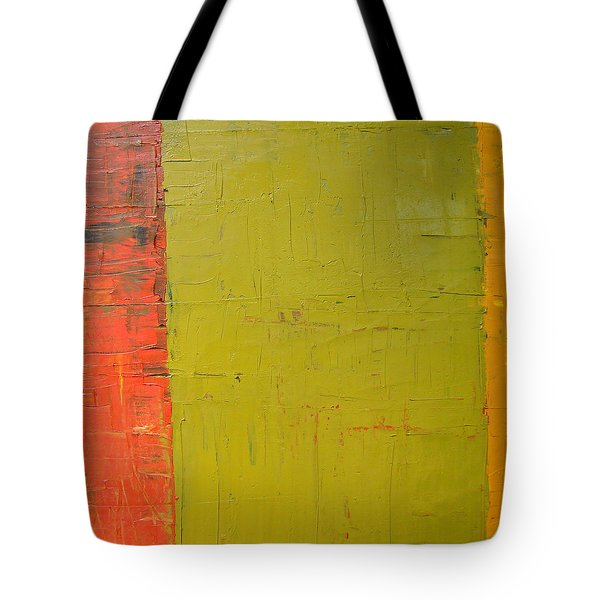 Red Green Yellow Tote Bag by Michelle Calkins