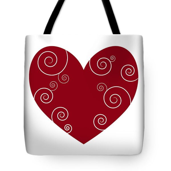Red Heart Tote Bag by Frank Tschakert