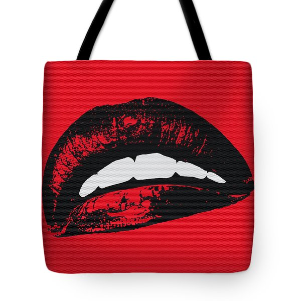 Red Lips Tote Bag by Edouard Coleman