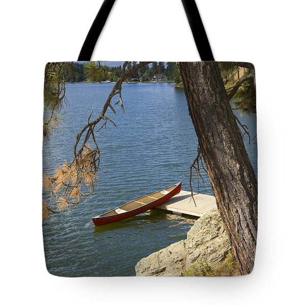 Red On Blue Tote Bag by Idaho Scenic Images Linda Lantzy
