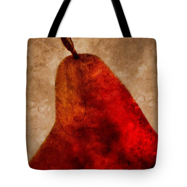 Red Pear II Tote Bag by Carol Leigh