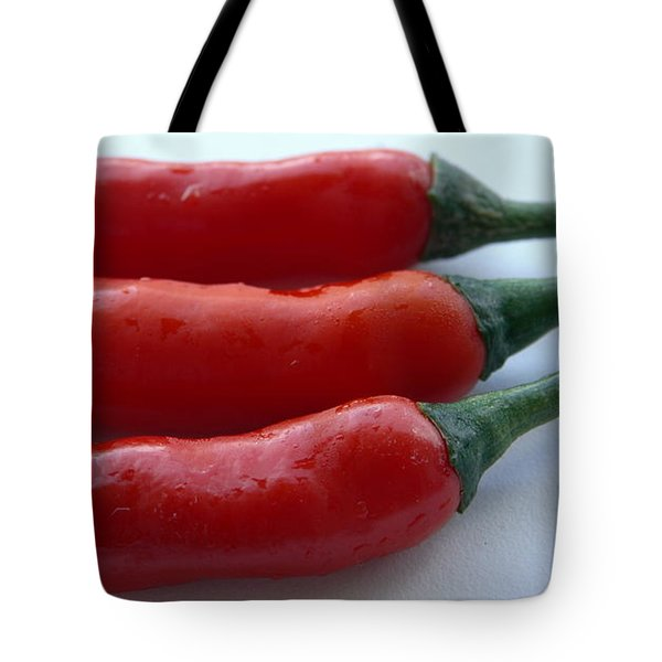 Red Peppers Tote Bag by Tropical Ties Dominica