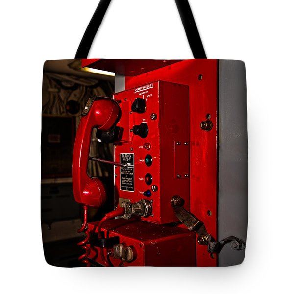 Red Phone Tote Bag by Christopher Holmes