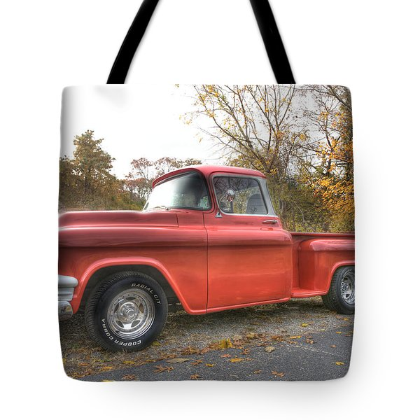 Red Pick-up Tote Bag by Steve Gravano