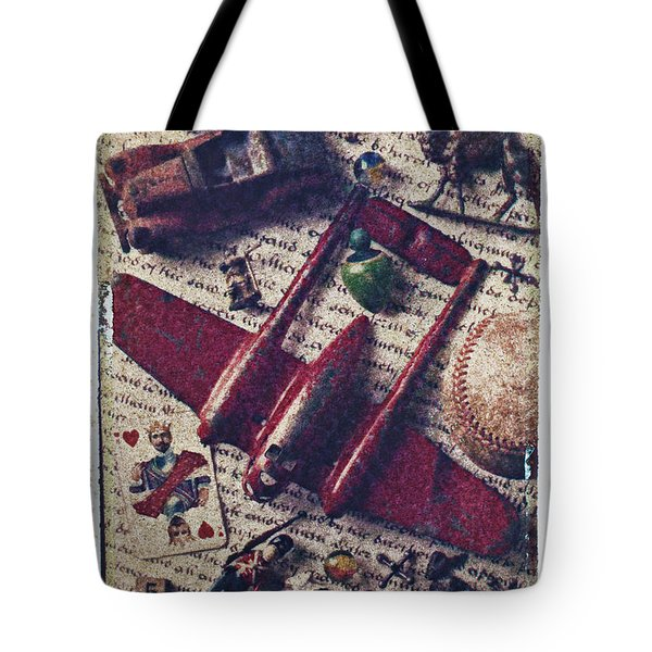 Red Plane Tote Bag by Garry Gay