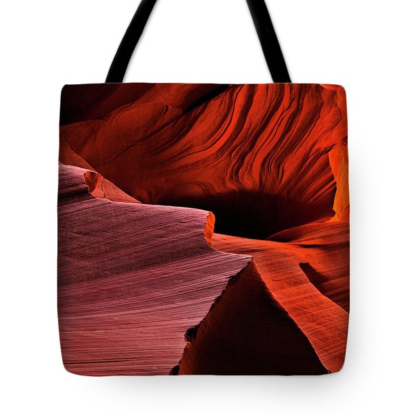 Red Rock Inferno Tote Bag by Mike  Dawson