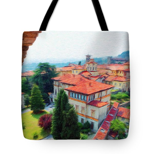Red Roofs Tote Bag by Jeff Kolker