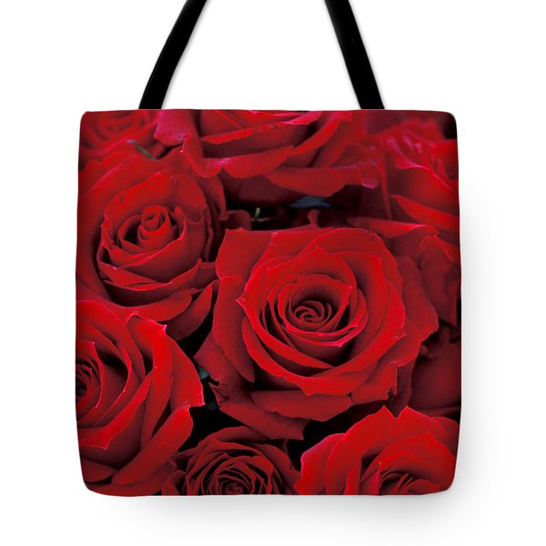 Red Rose Bouquet Tote Bag by Kathy Yates