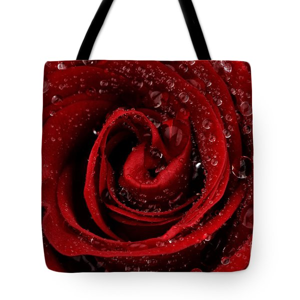 Red Rose Tote Bag by Mark Johnson