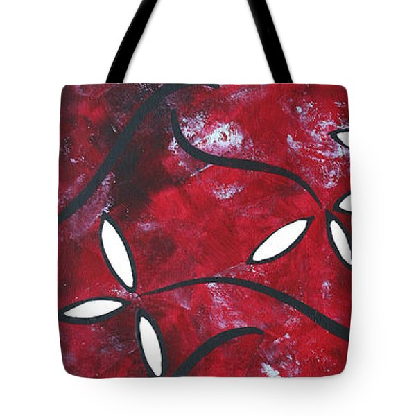Red Roses 1 By Madart Tote Bag by Megan Duncanson