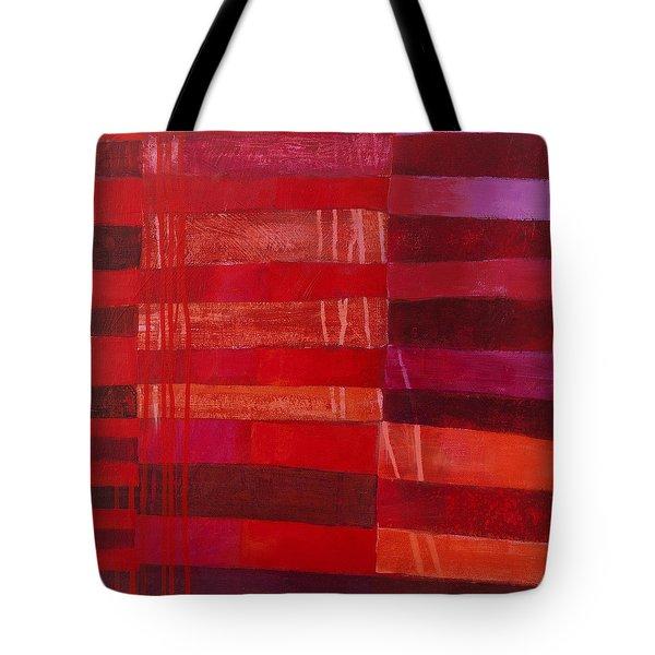 Red Stripes 2 Tote Bag by Jane Davies