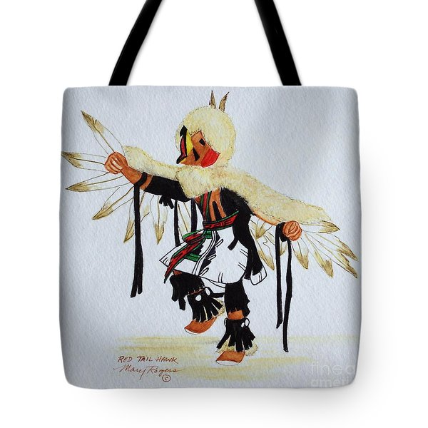 Red Tail Hawk Tote Bag by Mary Rogers