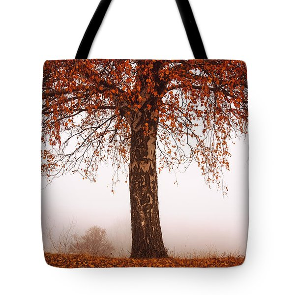 Red Tree Tote Bag by Evgeni Dinev