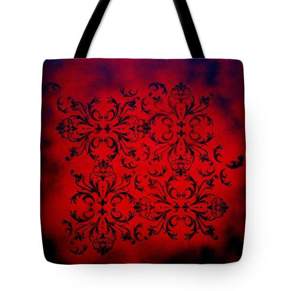 Red Velvet By Madart Tote Bag by Megan Duncanson