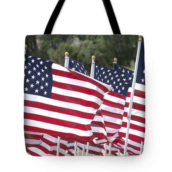 Red White And Blue Tote Bag by Jerry McElroy