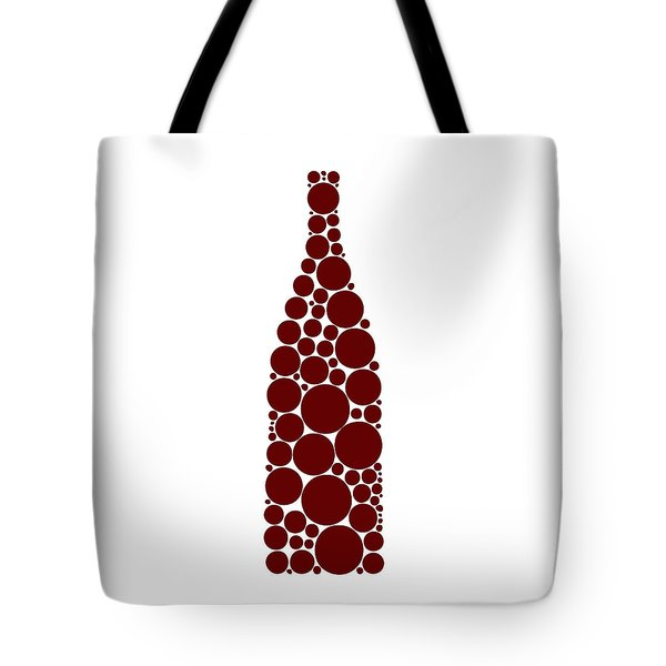Red Wine Bottle Tote Bag by Frank Tschakert