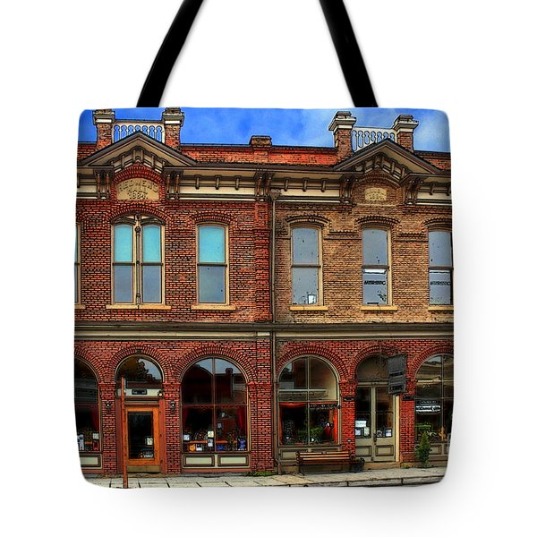 Redmens Hall - Jacksonville Oregon Tote Bag by James Eddy