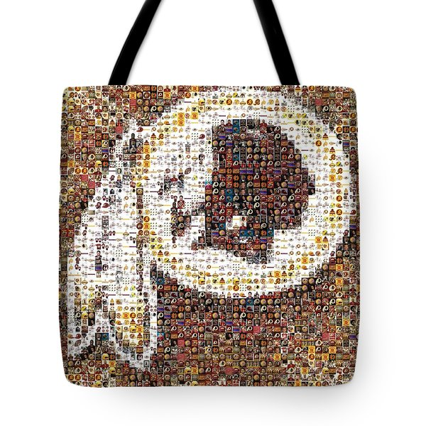 Redskins Mosaic Tote Bag by Paul Van Scott