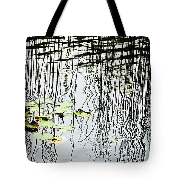 Reeds And Reflections Tote Bag by Dave Fleetham - Printscapes