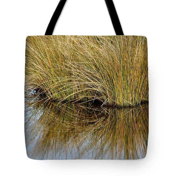 Reflecting Reeds Tote Bag by Marty Koch