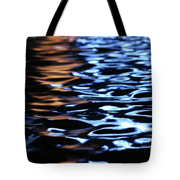 Reflection In Fountain Tote Bag by Karol Livote