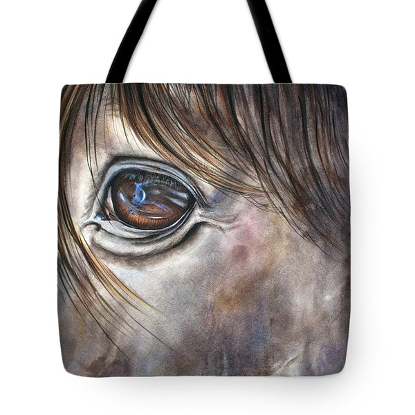 Reflection Of A Painted Pony Tote Bag by Mary McCullah