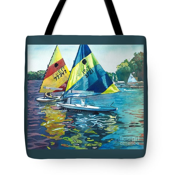 Reflections After The Race Tote Bag by LeAnne Sowa