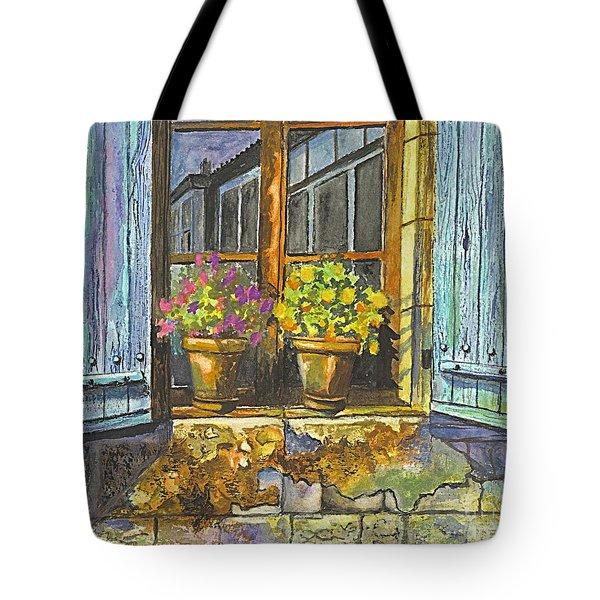 Reflections In A Window Tote Bag by Carol Wisniewski