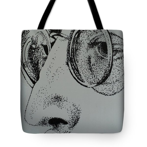 Reflections Of Peace John Lennon Tote Bag by Carla Carson