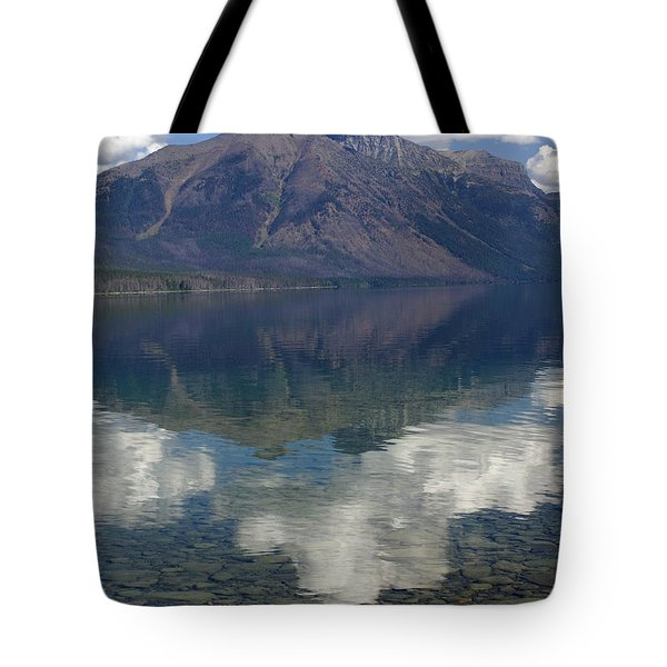 Reflections On The Lake Tote Bag by Marty Koch