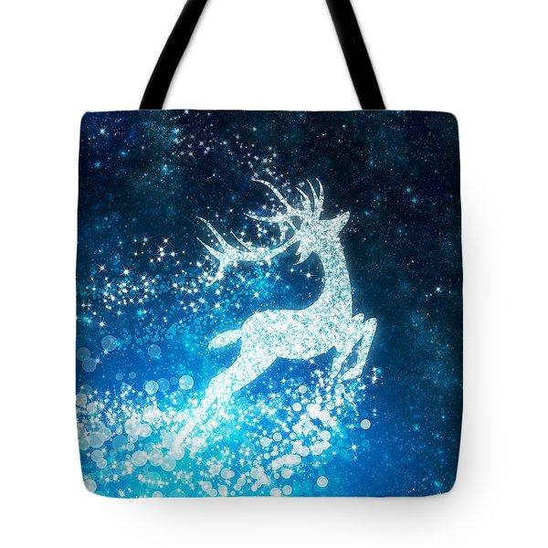 Reindeer Stars Tote Bag by Setsiri Silapasuwanchai