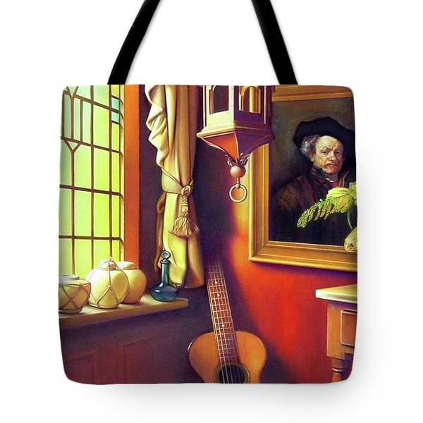 Rembrandt's Hurdy-Gurdy Tote Bag by Patrick Anthony Pierson