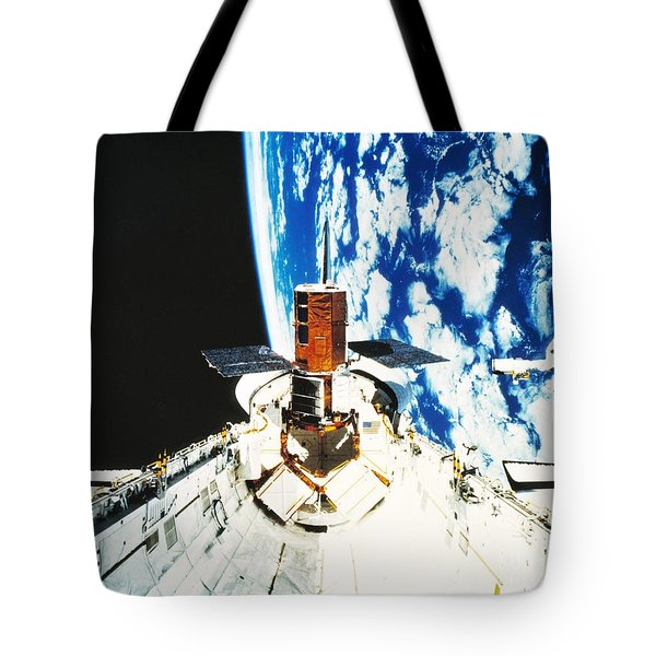 Repaired Solar Maximum Misson Onboard Tote Bag by NASA / Science Source