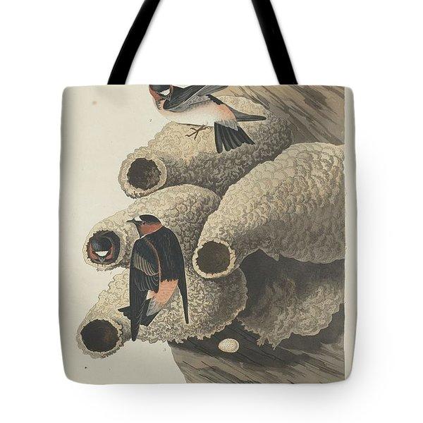 Republican Cliff Swallow Tote Bag by John James Audubon