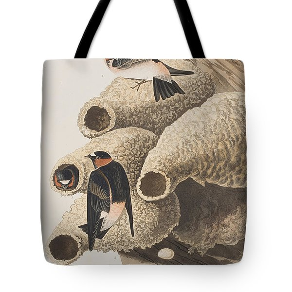 Republican Or Cliff Swallow Tote Bag by John James Audubon
