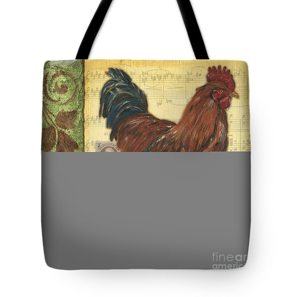 Retro Rooster 2 Tote Bag by Debbie DeWitt