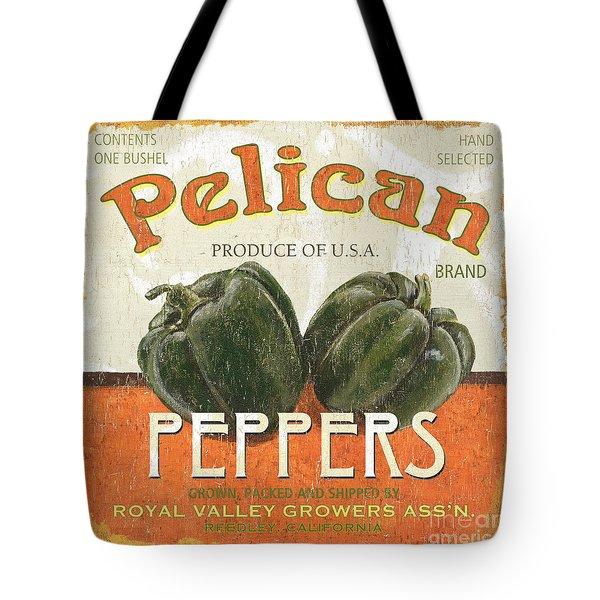 Retro Veggie Labels 3 Tote Bag by Debbie DeWitt