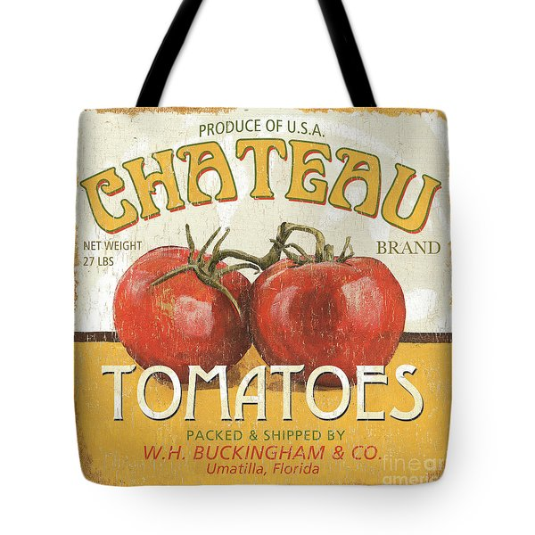 Retro Veggie Labels 4 Tote Bag by Debbie DeWitt