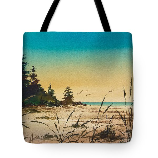 Return To The Shore Tote Bag by James Williamson