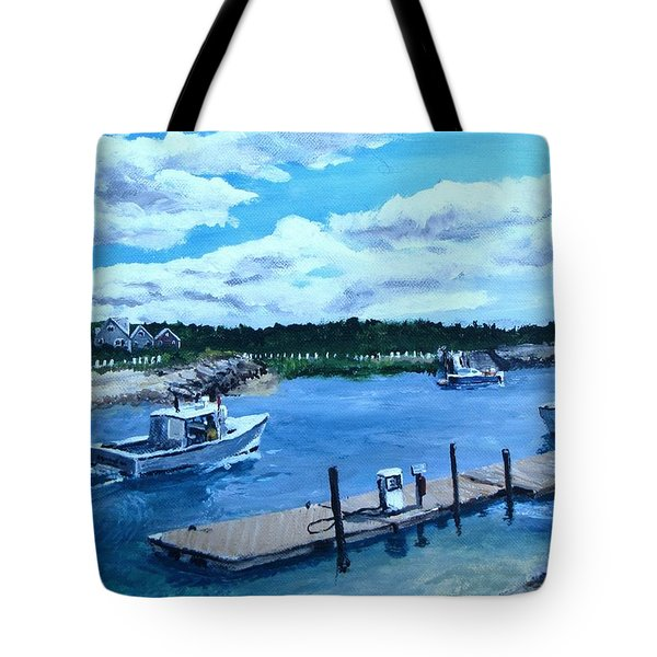Returning to Sesuit Harbor Tote Bag by Jack Skinner