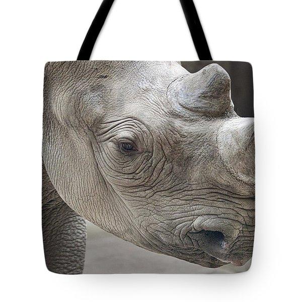 Rhinoceros Tote Bag by Tom Mc Nemar