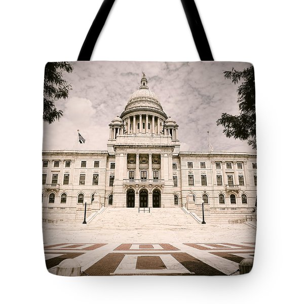 Rhode Island State House Tote Bag by Lourry Legarde