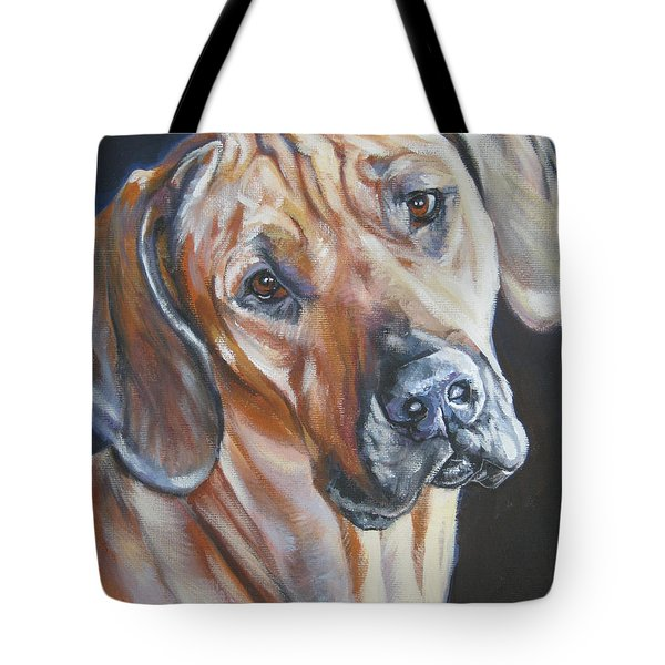 Rhodesian Ridgeback Tote Bag by Lee Ann Shepard
