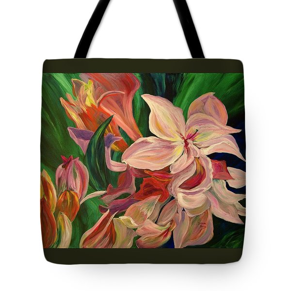 Rhododendron Tote Bag by Donna Drake
