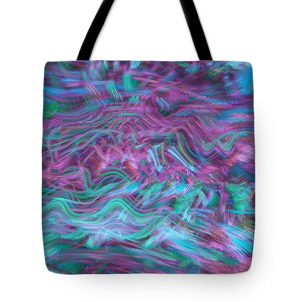 Rhythmic Waves Tote Bag by Linda Sannuti
