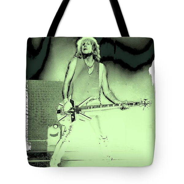 Rick Savage - Def Leppard Tote Bag by David Patterson