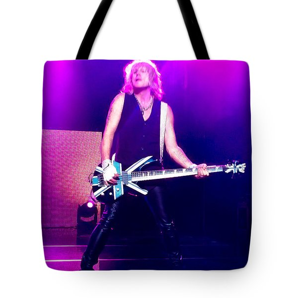 Rick Savage Of Def Leppard Tote Bag by David Patterson